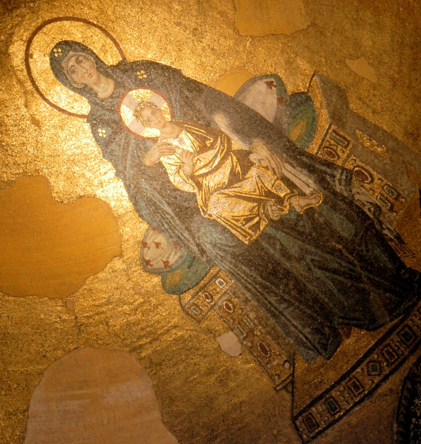 The Virgin and Child--Hagia Sophia, Istanbul