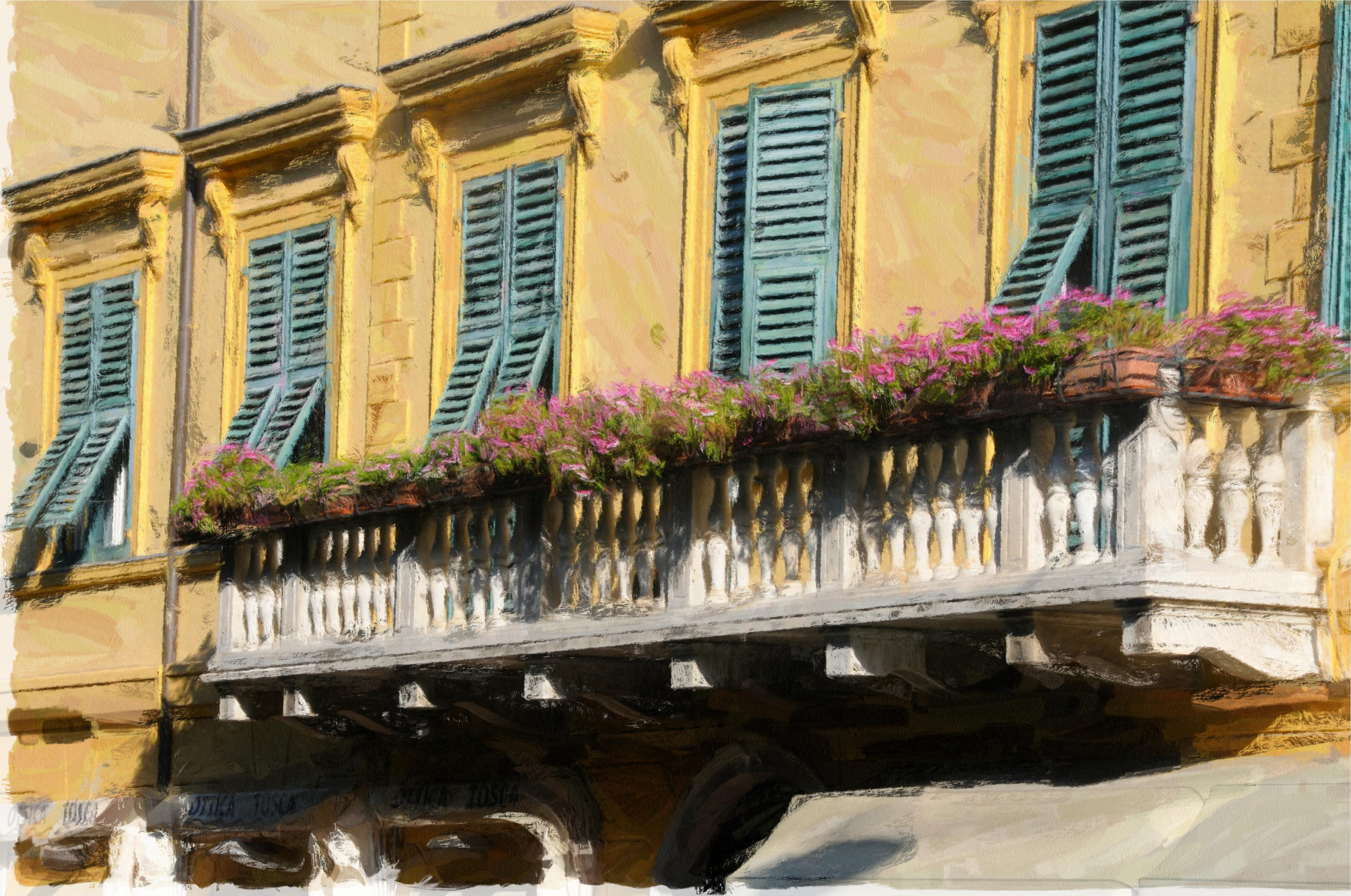 Venice corner levanto balcony and siena sunporch at for Italian balcony