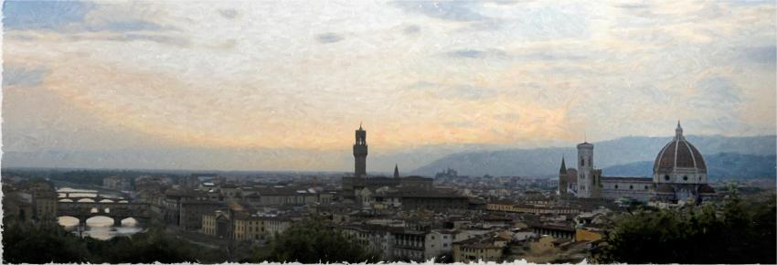 florence at dusk oil